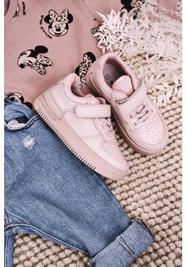 Dívčí stylové tenisky v růžové barvě