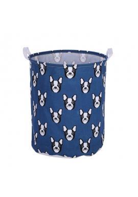 Modrý koš na hračky nebo prádlo s motivem psů