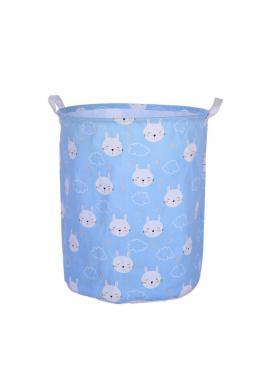 Koš na hračky nebo prádlo v světle modré barvě s potiskem