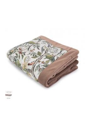 Teplá sametová deka pro děti s motivem ornitologie