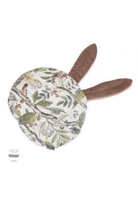 Sametový polštář s ušima s motivem ornitologie
