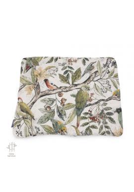 Malý polštář s motivem ornitologie - 100% bambus