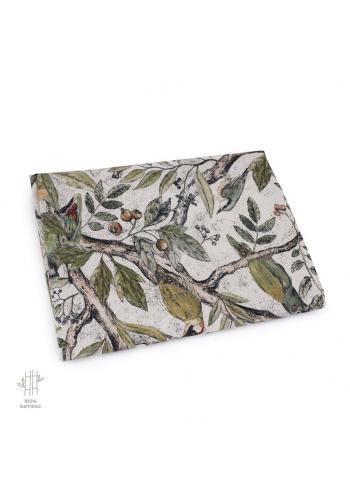 Bambusová deka na léto s motivem ornitologie