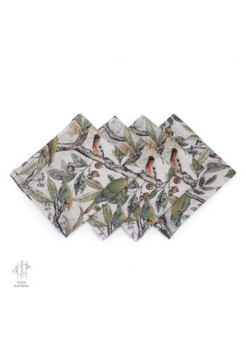 Bambusové plenky s motivem ornitologie