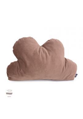 Sametový polštář - oblak v starorůžové barvě