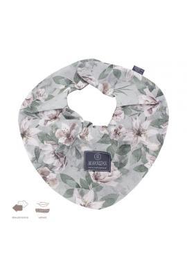 Oboustranný sametový šál s vintage květy