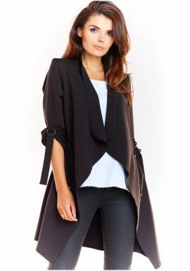 Volné dámské sako černé barvy