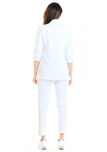 Bílé volné sako bez zapínání pro dámy