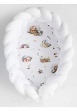 Smyčkové hnízdo PREMIUM 2 v 1 - bílé / Forest Moments