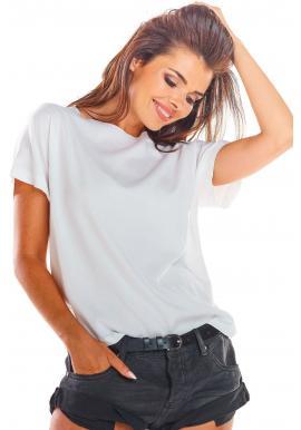 Bílá módní halenka s vázáním na zádech pro dámy