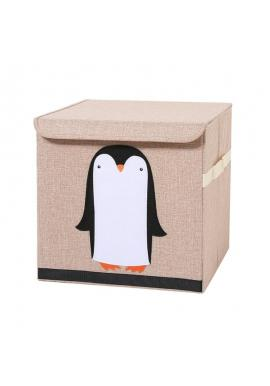 Koš na hračky nebo prádlo s nášivkou tučňáka