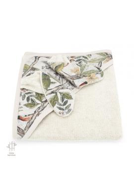 Dětský měkký ručník s motivem ornitologie - 100% bambus