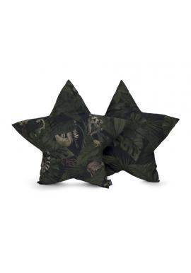 Polštář ve tvaru hvězdy s motivem detektivů z džungle