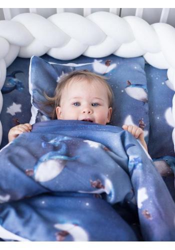 Bavlněná dětská plachta s gumkou na postel s motivem oceánu