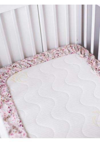 Dětské bavlněné prostěradlo na postel s gumkou - Retro květiny