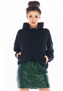 Zelená mini sukně s flitry pro dámy