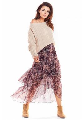 Barevná tylová sukně se vzorem pro dámy