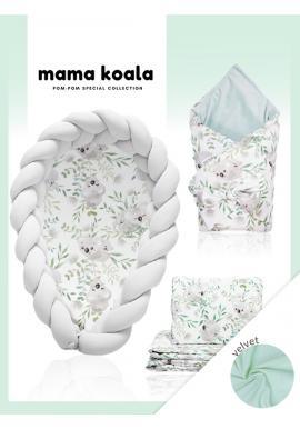 Výbava pro novorozence Velvet 4v1 - Koala / šedá
