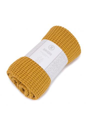 Tmavomodrá pletená deka