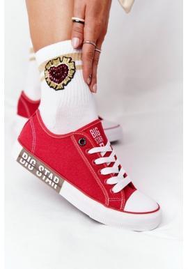 Stylové tenisky Big star v červené barvě