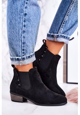 Módní boty pro dámy v černé barvě
