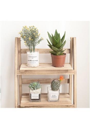 Univerzální dřevěná police na knihy, květiny, hračky nebo doplňky