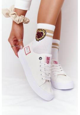 Stylové dámské tenisky Big Star v bílé barvě