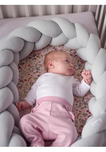 Novorozenecká výbava Velvet 4v1 - Retro květy / světlešedá