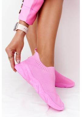 Športove slip-on pro dámy v růžové barvě