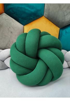 Zelený pletený polštář