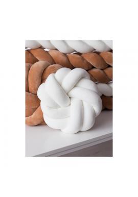 Sametový smyčkový polštář v bílé barvě