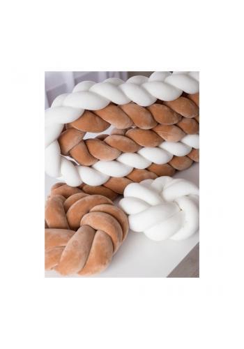 Sametový super měkký smyčkový polštář v bílé barvě