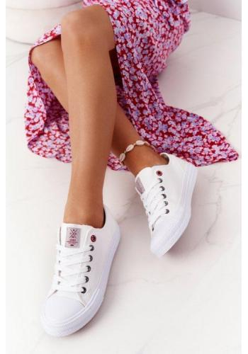 Dámské stylové tenisky v bílé barvě