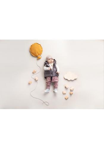 Bavlněná dětská čepice béžové barvy