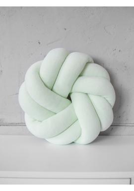 Velurový smyčkový polštář v mátové barvě