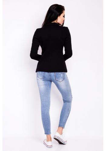 Sako pro dámy v černé barvě s dlouhým rukávem