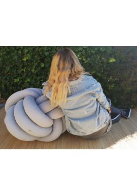 Polštář uzlík na sezení šedé barvy