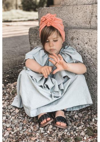 Módní dětské sandálky v černé barvě