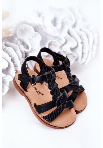 Trendy dětské sandálky v černé barvě