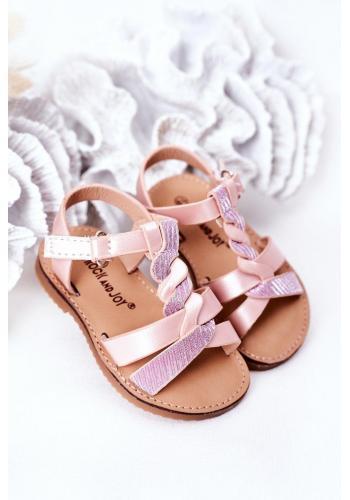 Dětské sandálky v růžové barvě
