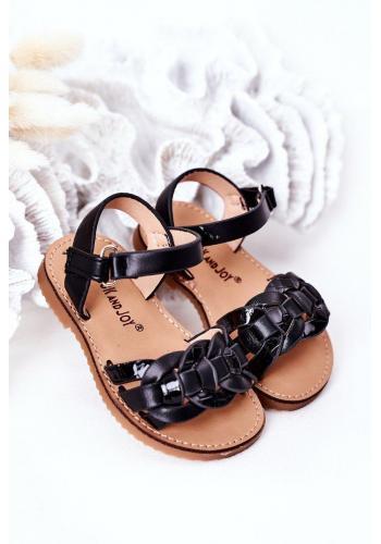 Stylové dětské sandálky v černé barvě