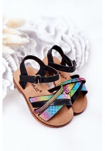 Dětské sandály s flitry Black Becky