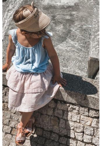 Módní dětské sandály s mašličkou v růžové barvě
