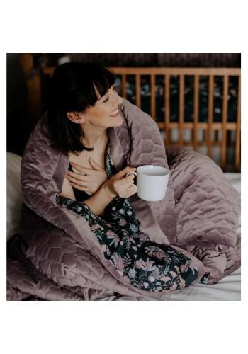 Sametová teplá deka s motivem tropických vibrací