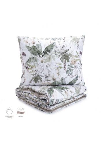 Sametová sada na spaní s motivem tropických vibrací