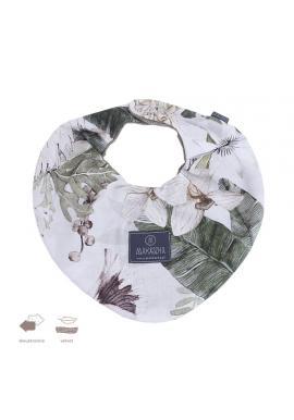 Oboustranný sametový šál s motivem tropických vibrací