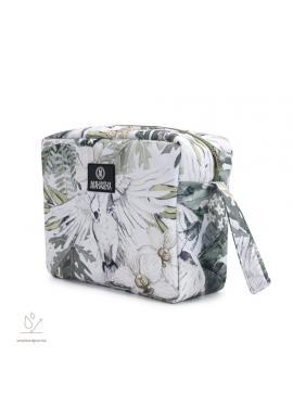 Voděodolný kosmetický kufřík s motivem tropických vibrací