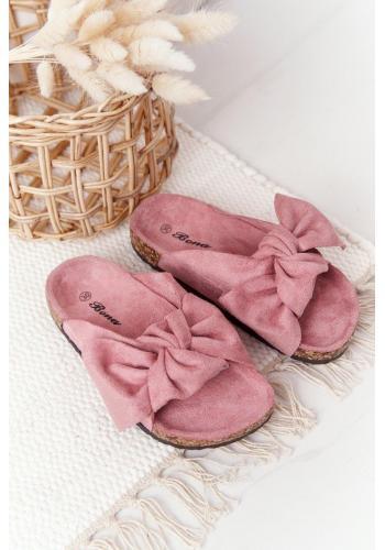 Trendy dívčí pantofle v růžové barvě