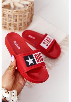 Módní dětské pantofle značky BIG STAR v červené barvě