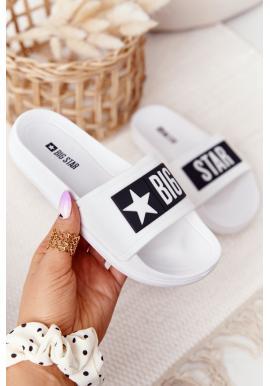 Dětské pantofle značky BIG STAR v bílé barvě